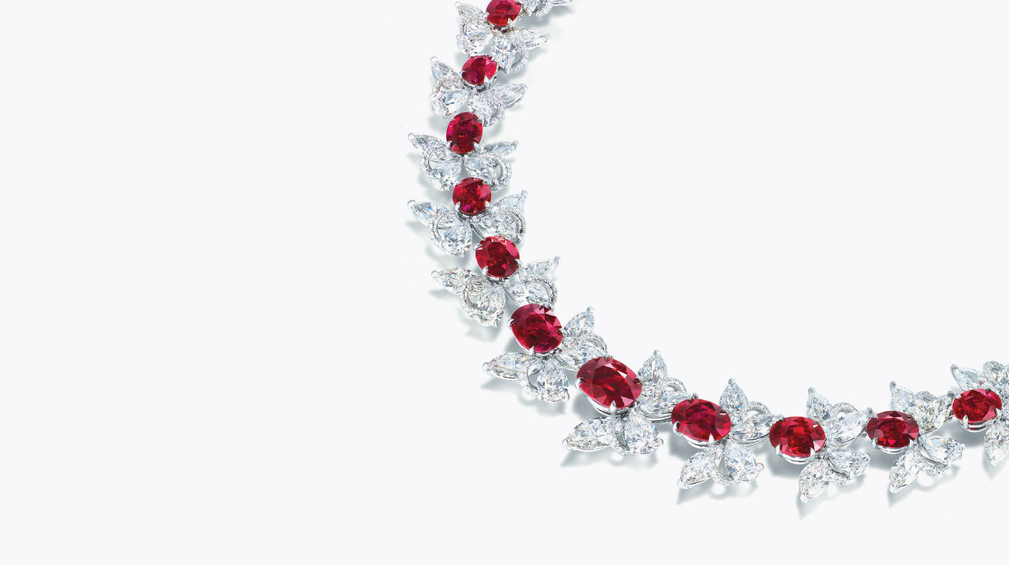 Red butterflies necklace | Faidee