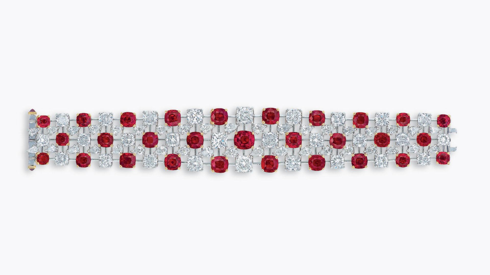 Mogok's fiery red bracelet |Faidee