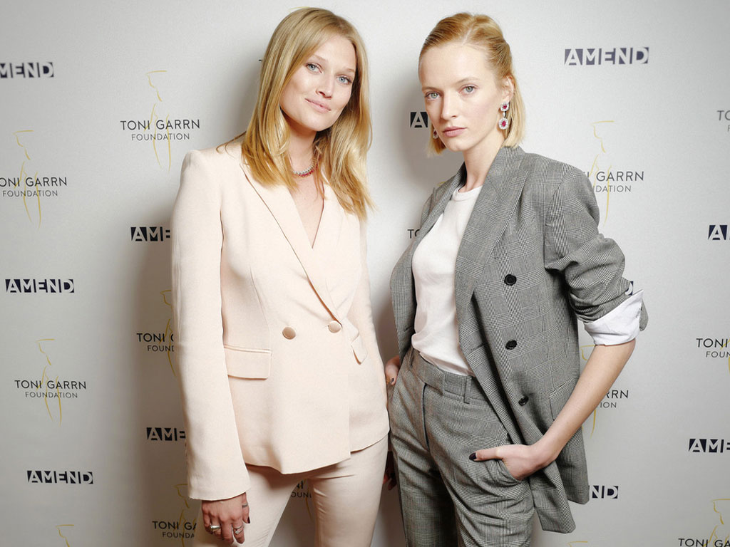 Working for charity at the Amend Luncheon with Toni Garrn | Faidee